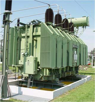 Abdichtungen für Auffangwannen unter 110 kV Leistungstransformatoren